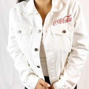 Coca Cola for H&M JAPAN White Jean Jacket RARE